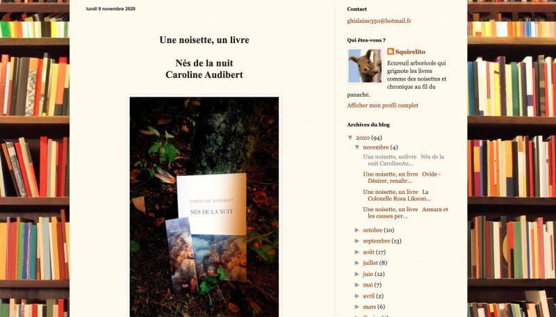Nés de la nuit sur le blog de Squirelito !